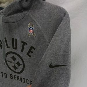 low cost ef0d5 fc505 Nike NFL Steelers Salute to Service Hoodie Medium